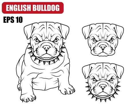 Skizze einer Bulldoggenikone.