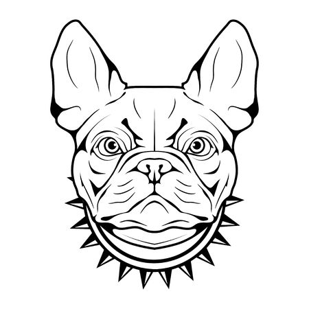 French bulldog head icon.