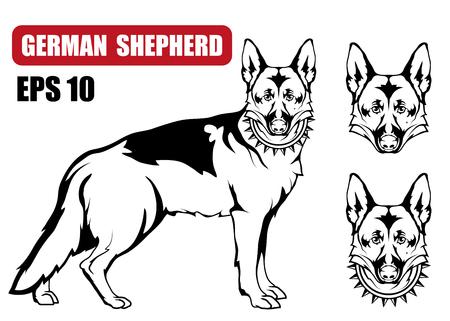 German Shepherd dog icon. Dog collection Vector illustration.
