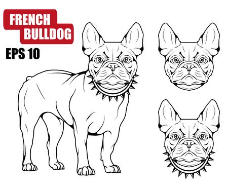 Icône de bouledogue français Collection de chiens