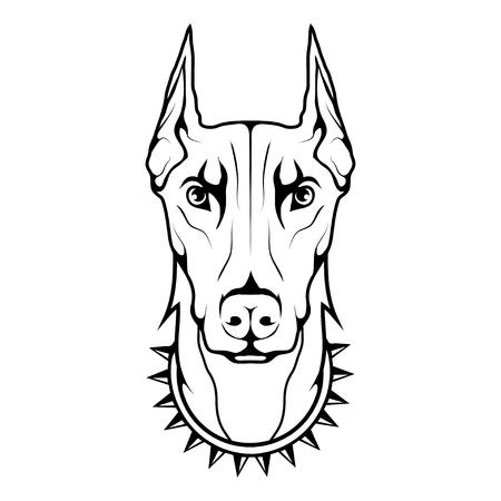 Doberman dog icon Dog collection Illustration