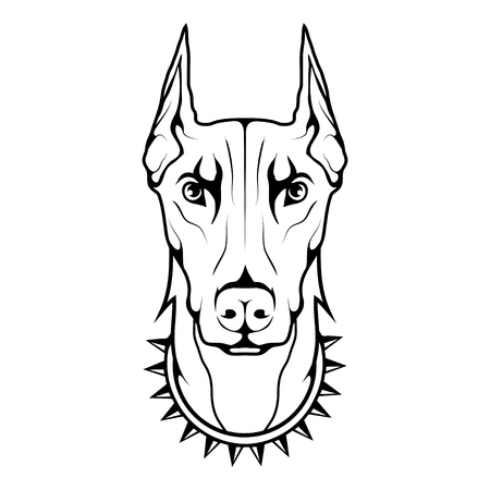Doberman dog icon Dog collection Illustration