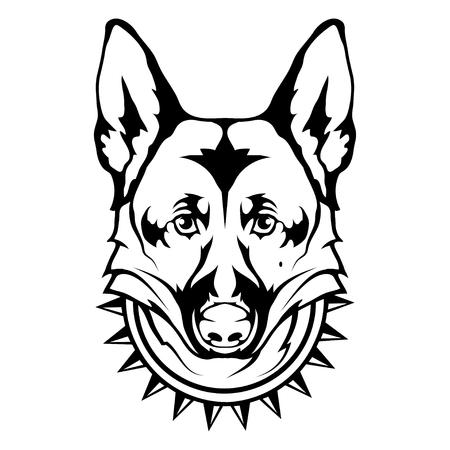 German Shepherd dog icon. Dog collection Vector illustration.
