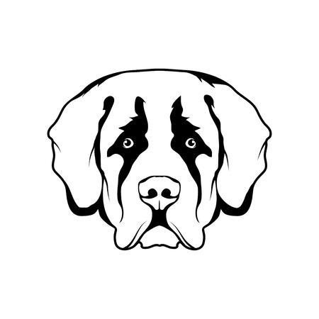 St. Bernard dog head icon Dog collection