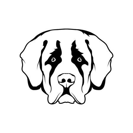 St. Bernard dog head icon Dog collection