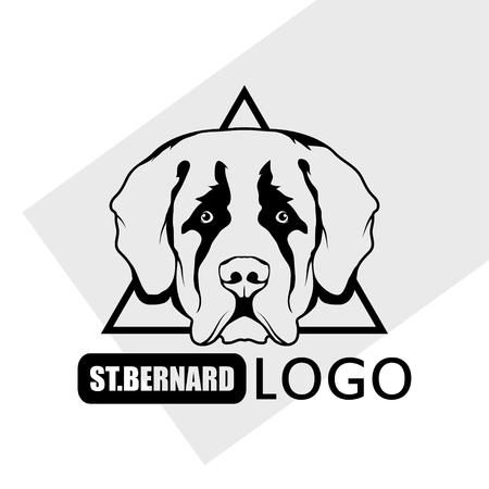 St. Bernard dog logo. Pet Emblem