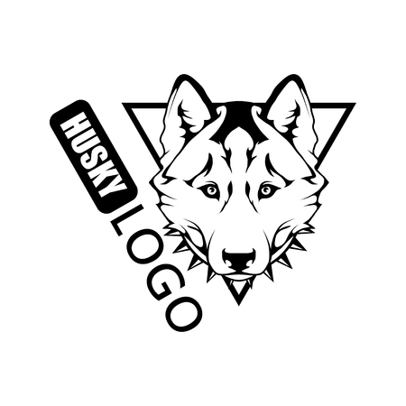 Husky dog ​​logo Pet Emblem