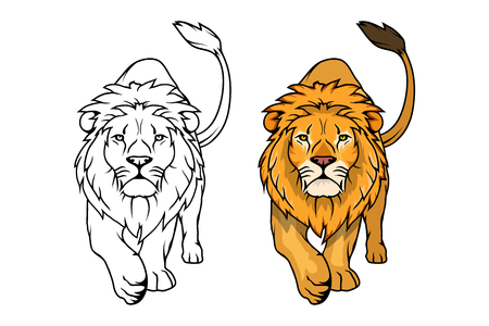Lion logo.Vector animal lion.King Lion isolated on white background.