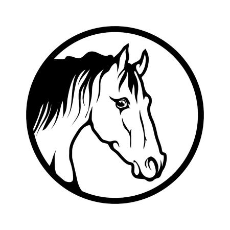 horse logo template vector illustration Illustration