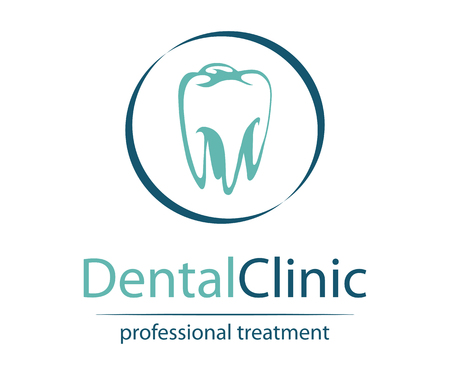 Stomatology. Dental Clinic Logo. Doctor Logotype. Medical concept. Tooth concept icon.