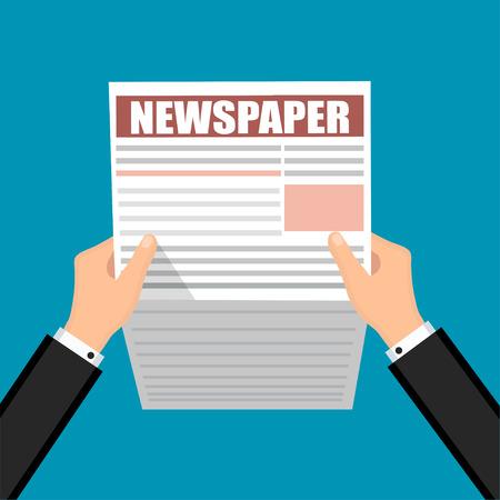 Business Newspaper  Financial Information Vector illustration. Ilustração
