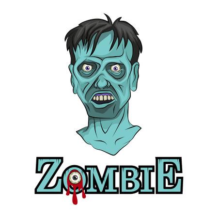 Cartoon Zombie head. Vector graphics to design 版權商用圖片 - 100907977