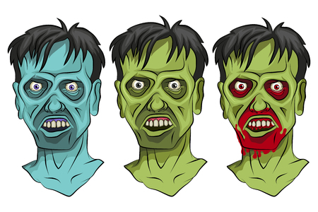 Cartoon Zombie head. Vector graphics to design 版權商用圖片 - 102569563
