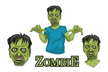 Cartoon Zombie head. Vector graphics to design 版權商用圖片 - 102569878