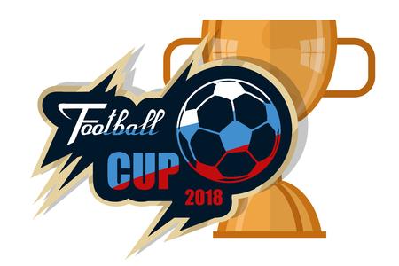 Concept of Football 2018 Russia. World football Championship. Vector graphics to design Illustration
