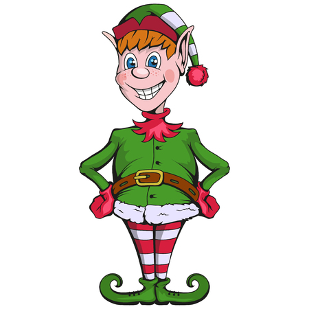 Christmas elf. Set of different elves for christmas. Different new year characters. Santa Claus helpers. New Year characters in the form of Christmas elf. Merry Xmas design element. Stock Vector - 127572660