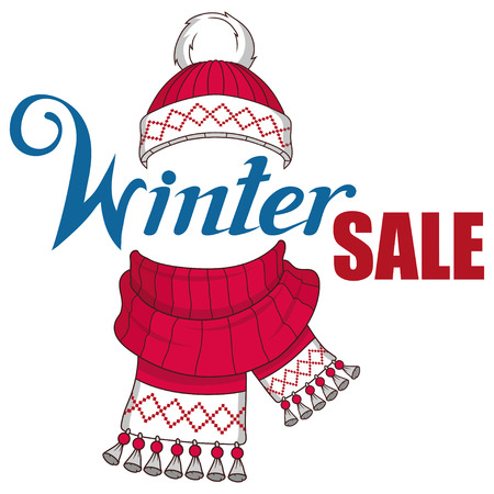 Big winter sale banner, with new year or christmas design elements. Christmas shopping. New Year's holiday. Winter sale poster. Christmas celebration. Winter sale for holidays.