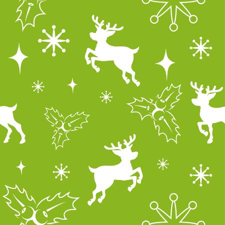 Set of seamless christmas pattern. Set of different pattern for christmas. New Year pattern in the form of Christmas characters. Different new year characters. New Years holiday. Winter celebration.  イラスト・ベクター素材