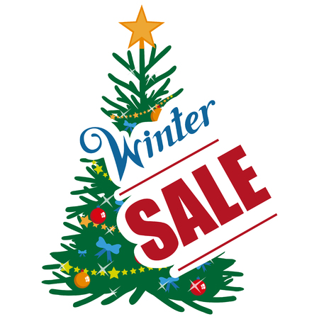 Big winter sale banner, with new year or christmas design elements. Christmas shopping. New Years holiday. Winter sale poster. Christmas celebration. Winter sale for holidays.