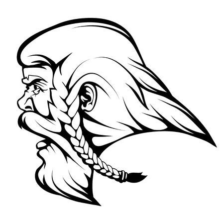 Head Viking warrior graphics to design