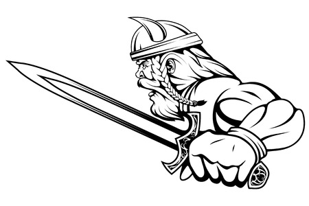 viking warrior with a sword in his hand
