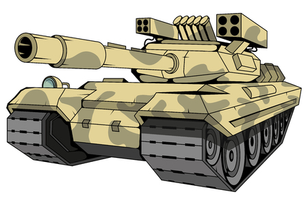 battle tank logo, camouflage tank, battle tank colored drawing, vector graphics to design