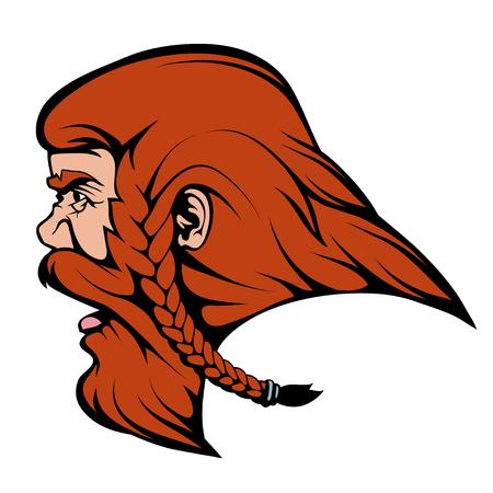 viking warrior team mascot,  vector graphics to design