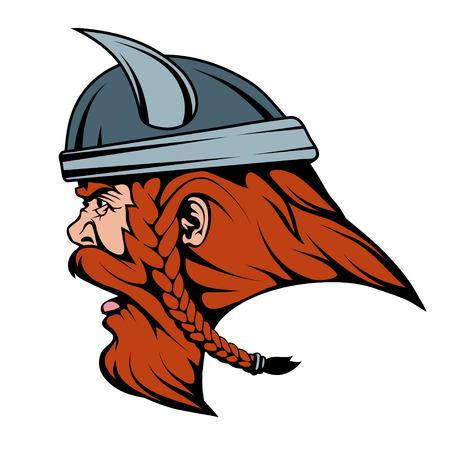 viking warrior in combat helmet suitable  team mascot  graphics to design