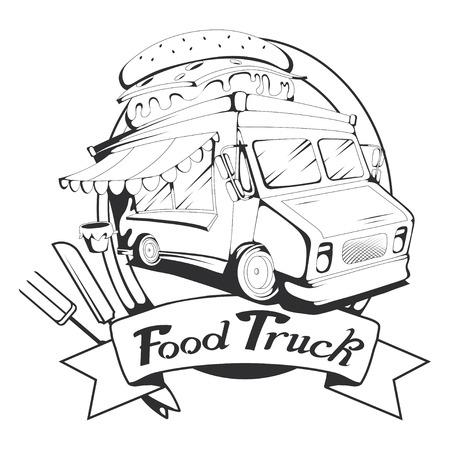 gráfico de food truck para diseñar