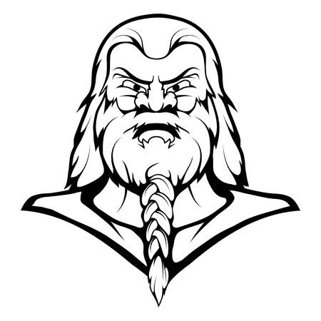 Viking Mascot Graphic, viking head Illustration