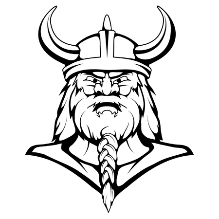 Viking Mascot Graphic, viking headboard, viking warrior in combat helm