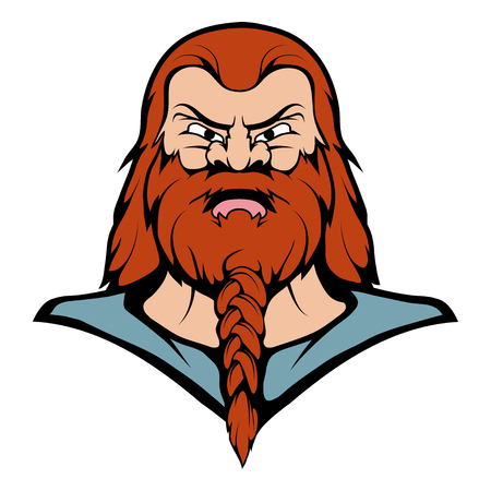 Viking Mascot Graphic, viking head suitable as team mascot, vector graphic to design Illustration