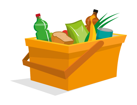 picnic basket on a white background, vector graphic to design