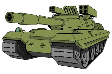 battle tank vector, vector graphic to design Imagens - 124879769