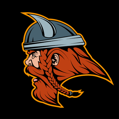 Viking head mascot graphic to design
