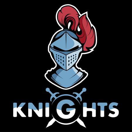 Knight head mascot graphic to design Illustration