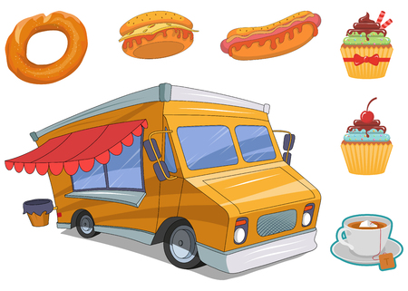 fast food vector set, vector graphic to design