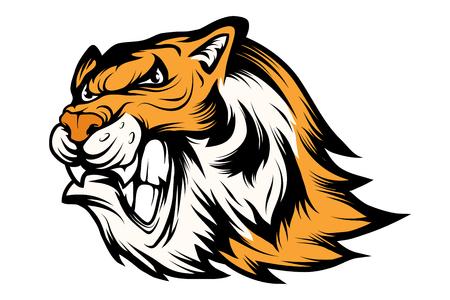 Bengal Tiger sports mascot. Tiger mascot. Angry tiger face. Vector graphics to design Иллюстрация