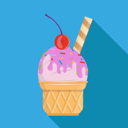 Vector ice cream collection. Cartoon ice cream. Colorful fruit ice cream. Ice lolly. Vector graphics to design