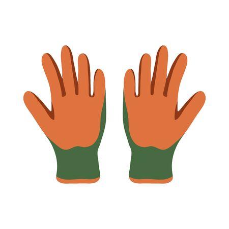 Garden Gloves. Gauntlet. Vector Graphics to Design.
