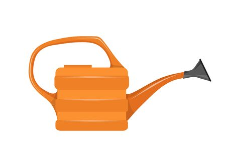 Flat illustration of Garden Watering Can. Watering Can icon. Vector Graphics to Design.