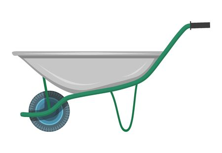 Garden Trolley on a white Background. Garden Tools. Vector Graphics to Design.