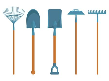 Set of Different Gardening Tools. Spring Garden Items. Various Tools for Gardening. Vector Graphics to Design.