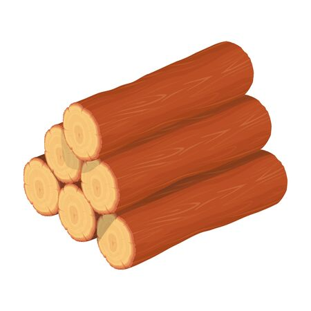 Wood Logs and Trunks. Forestry. Firewood Logs. Tree Wood Trunk. Wood. Firewood. Firewood for Sale. Vector graphics to design.
