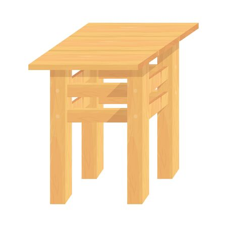 Wooden ?hair. Stool. Woodwork. Vector Graphics to Design.