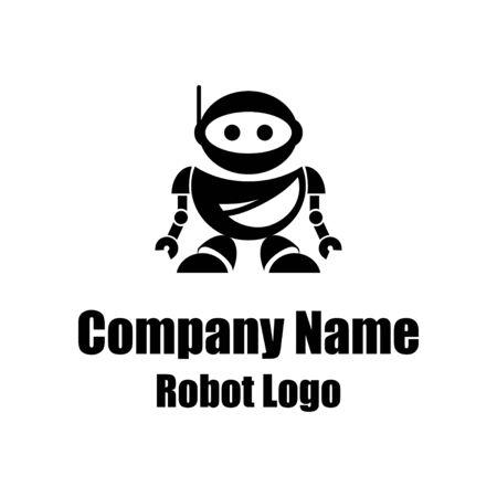 Robot logo for design. Bot icon. Robotics. Support service bot. Vector graphics to design.