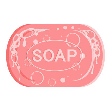 Soap Icon. Modern vector illustration for web and mobile. Foam soap images. Organic soap. Hygiene, hospitality, medical, protective. Vector graphics to design. Çizim