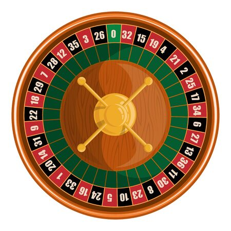 European roulette. Red & Black Betting casino squares. Winning money. Losing at gambling. Classic casino roulette. Gambling European Roulette banner. Decorative casino element. Casino roulette.