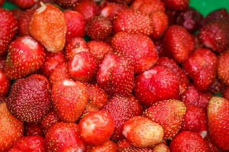 Ripe strawberries in bulk Stock Photo