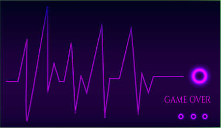 resignation: Game over - ekg graph - on dark background